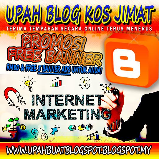 Upah Buat Blog - RM80 aje, siap free 5 banner ads design