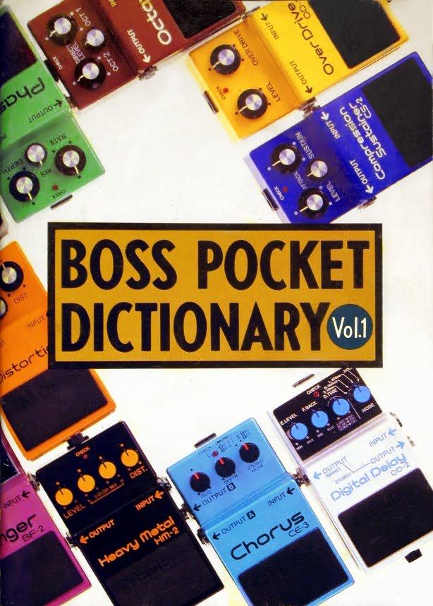 Boss Pocket Dictionary pedals catalogue 1985