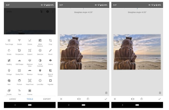 تعديل الصور تطبيق Snapssed