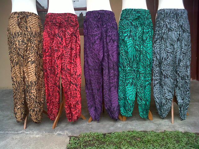 Contoh Celana Aladin Batik Print Solo Grosir