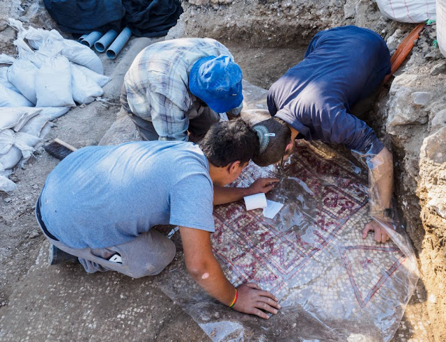 6th century Byzantine mosaic inscription found in Jerusalem