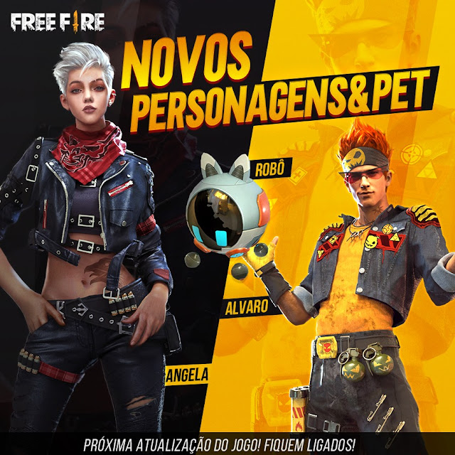 Karakter Baru Free Fire Angela Alvaro dan Pet Robot Upcoming Update 2019