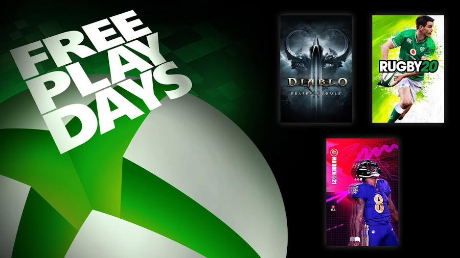 diablo 3 madden nfl 21 rugby 20  xbox live gold free play days event