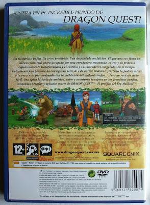 Dragon Quest VIII - El Periplo del Rey Maldito - Caja Pal España detrás