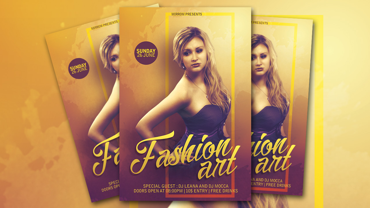 Photoshop Tutorial Create an Fashion Flyer
