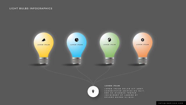 Shining Light Bulb Infographics PowerPoint Slide Type C