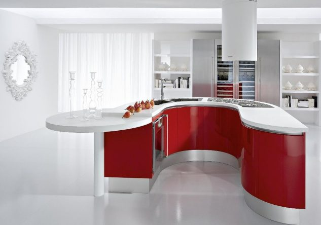 outstanding modern red kitchen | The Best Suggested Outstanding Kitchen Designs Ideas, That ...