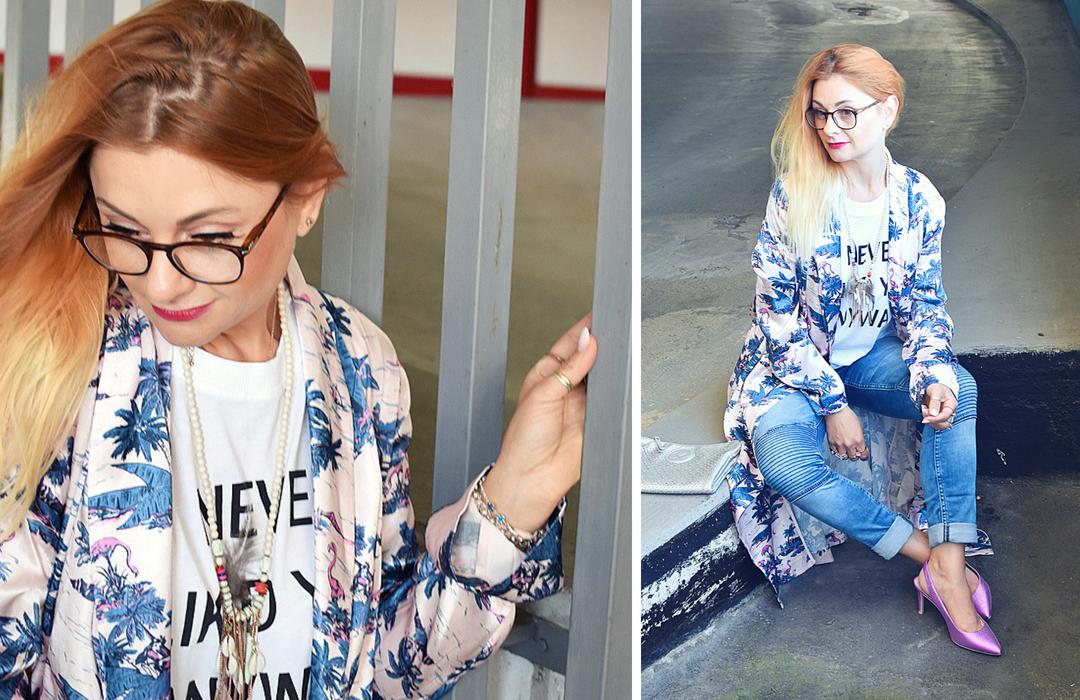 Kimono für Frauen von H&M, Outfit mit Kimono