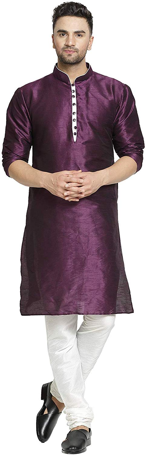 ABH Lifestyle Men's Dupion Silk kurta Pyjama Set