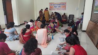 सामाजिक कल्याण समिति द्वारा इको फ्रेंडली गणेशजी बनाने का प्रशिक्षण