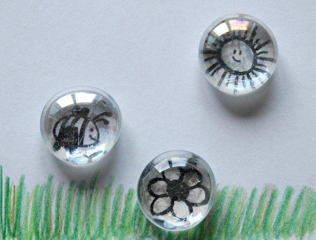 edeltraud mit punkten glas magnete. Black Bedroom Furniture Sets. Home Design Ideas