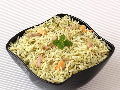 Pudina rice or mint rice