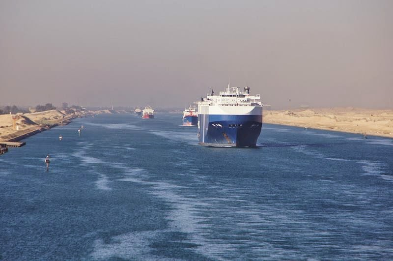 The Suez Canal is an artificial sea-level waterway in Egypt, it is an important international navigation canal Mediterranean Sea and the Red Sea. Its considered to be the first artificial canal to be used in Travel and Trade.