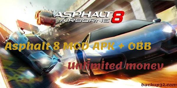 تحميل لعبة Asphalt 8 MOD APK احدث اصدار 2021 - غير محدودة  APK + OBB