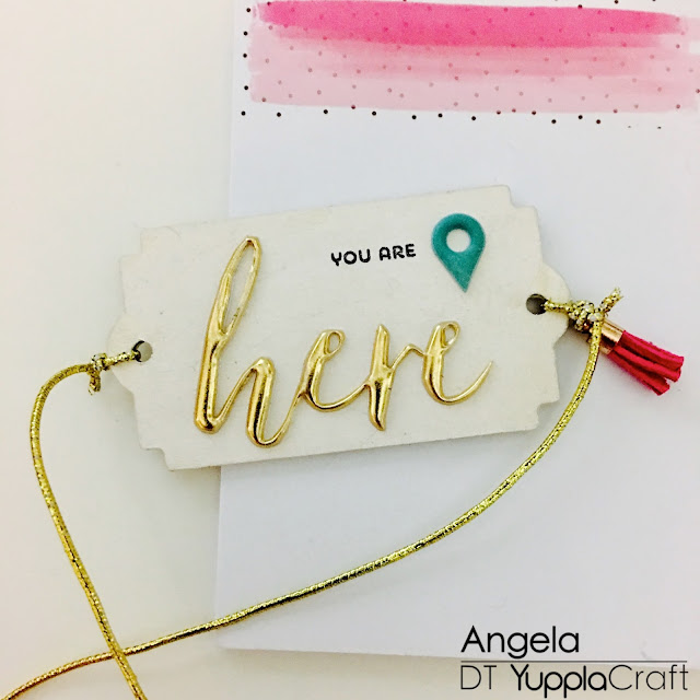 You Are Here Bookmark by Angela Tombari for Yuppla Craft DT