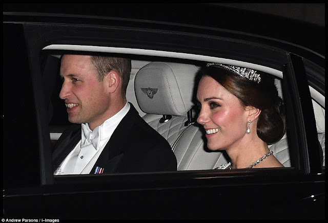 Kate i William na Diplomatic Reception w Pałacu Buckingham