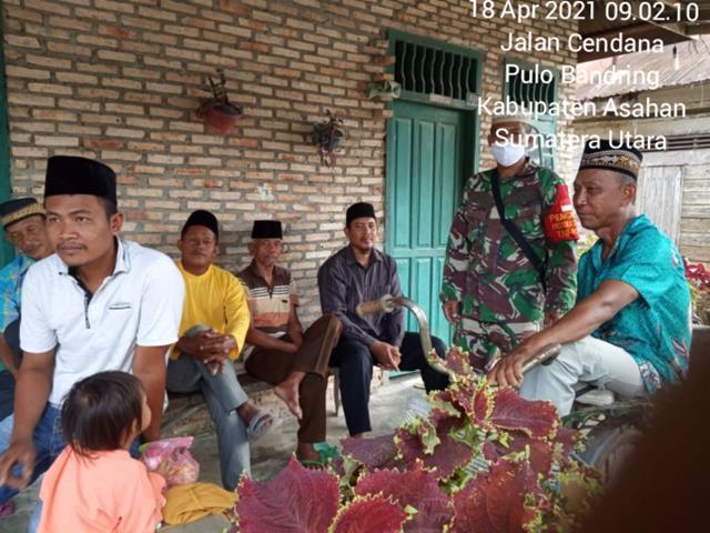 Ikut Berbelasungkawa, Dan Wujud Kepedulian Personel Jajaran Kodim 0208/Asahan Laksanakan Melayat