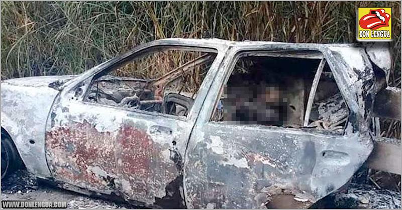 Tres jovenes murieron quemados vivos dentro de un carro mientras bebían licores