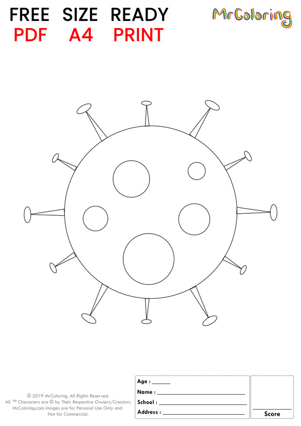 printable corona virus coloring pages flat 3