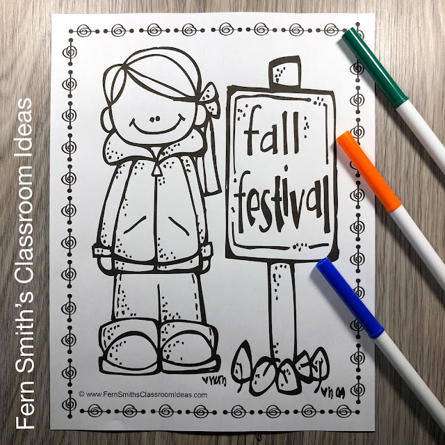 Fall Coloring Pages - 53 Pages of Fall Coloring Book Fun #FernSmithsClassroomIdeas