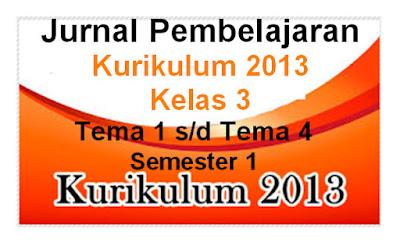 Jurnal Mengajar Kelas 3 Tema 1 s-d 4 Subtema 1 s-d 4 Kurikulum 2013