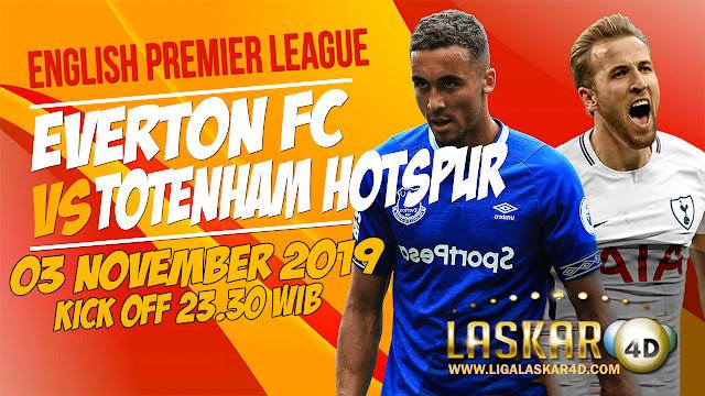 Prediksi Pertandingan Bola Everton vs Tottenham Hotspur 03 November 2019