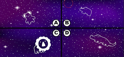 Alt 2 Q 15. Looks like color bird has some blackberries and is soaring the night sky. Can you see where color bird is?