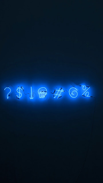 Neon Sign Characters iPhone Wallpaper