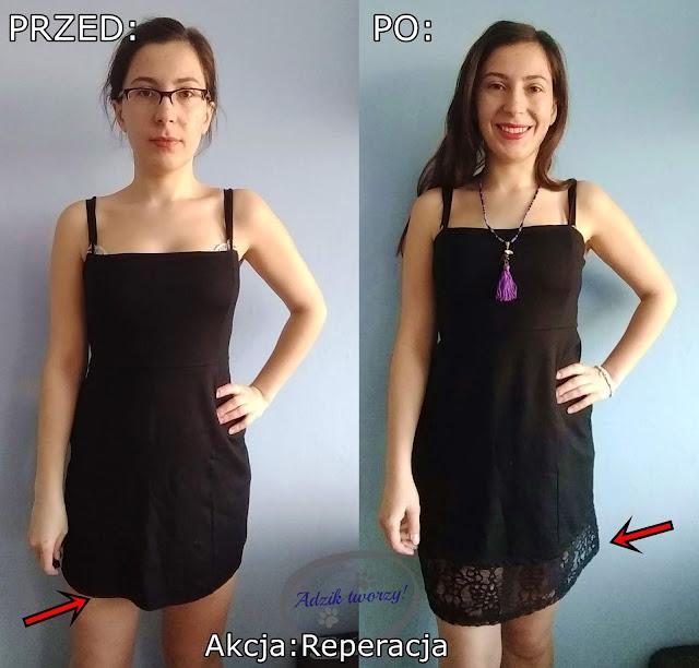 Akcja Reperacja u Adzika - za krótka sukienka jak przerobić DIY