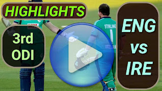 ENG vs IRE 3rd ODI 2020