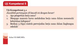 Soal dan Jawaban Uji Kompetensi 5.1 PKn Kelas 7 Halaman 134-135