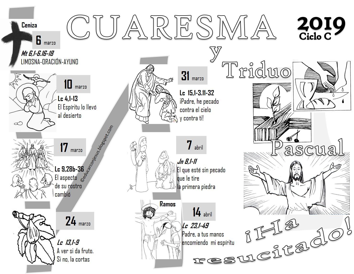 Aci Prensa Calendario.Educar Con Jesus Calendario Cuaresmal Y Triduo Pascual 2019