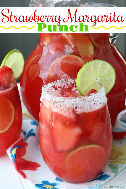 Strawberry Margarita Punch is the perfect punch for any party or gathering. A super simple recipe you will again and again.