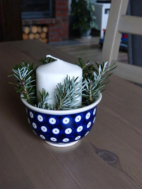 Naturalne dekoracje stołu w moim wydaniu.