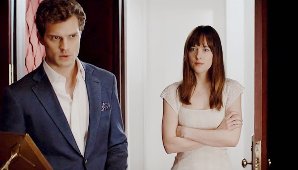 Jamie Dornan and Dakota Johnson in the first trailer_50 shades of gray
