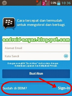 Email dan Password BB ID