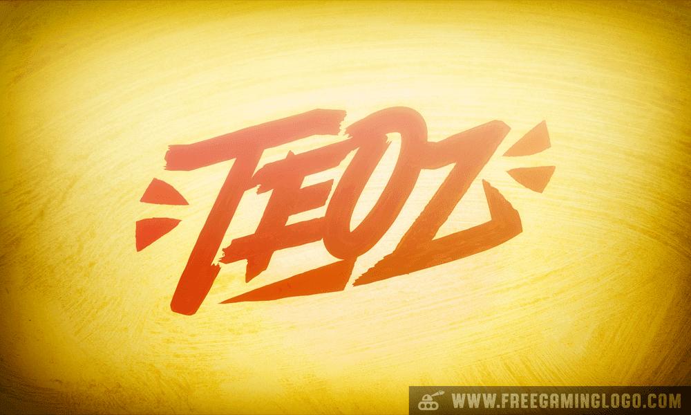 Teoz hand lettering signature design