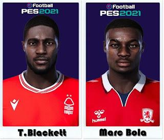 PES 2021 Faces Tyler Blackett & Marc Bola by Shaft