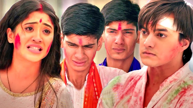 Good News : Kartik Naira returns back to Manish's Goenka Mansion Happy Holi in YRKKH