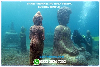 Paket snorkeling Nusa Penida Buddha temple