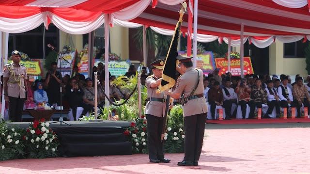 Resmi Polda Banten Menjadi Type A, Kapolri Pimpin Upacara Pengukuhan Peningkatan Polda Banten.
