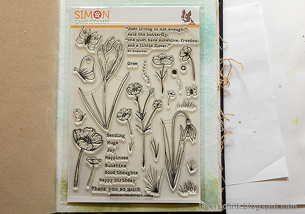 Layers of ink - Thoughtful Flowers Watercolor Garden Tutorial by Anna-Karin Evaldsson. Simon Says Stamp Send Happiness release, Thoughtful Flowers stamp set.