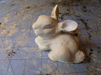 paper clay animal sculpture