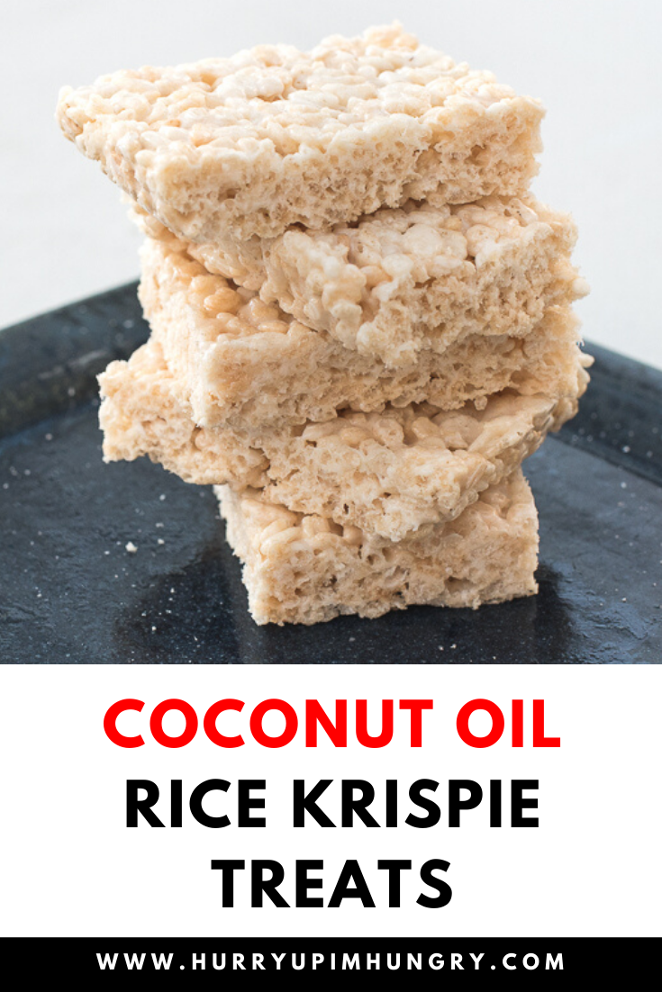 How to make rice krispie treats with coconut oil instead of butter