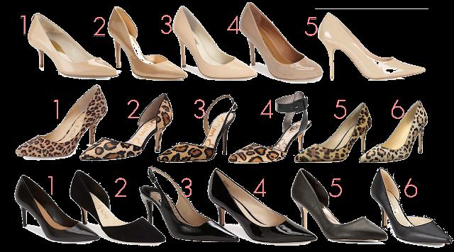 Back to school teacher Professional wardrobe staples nude heel leopard pump black heel work