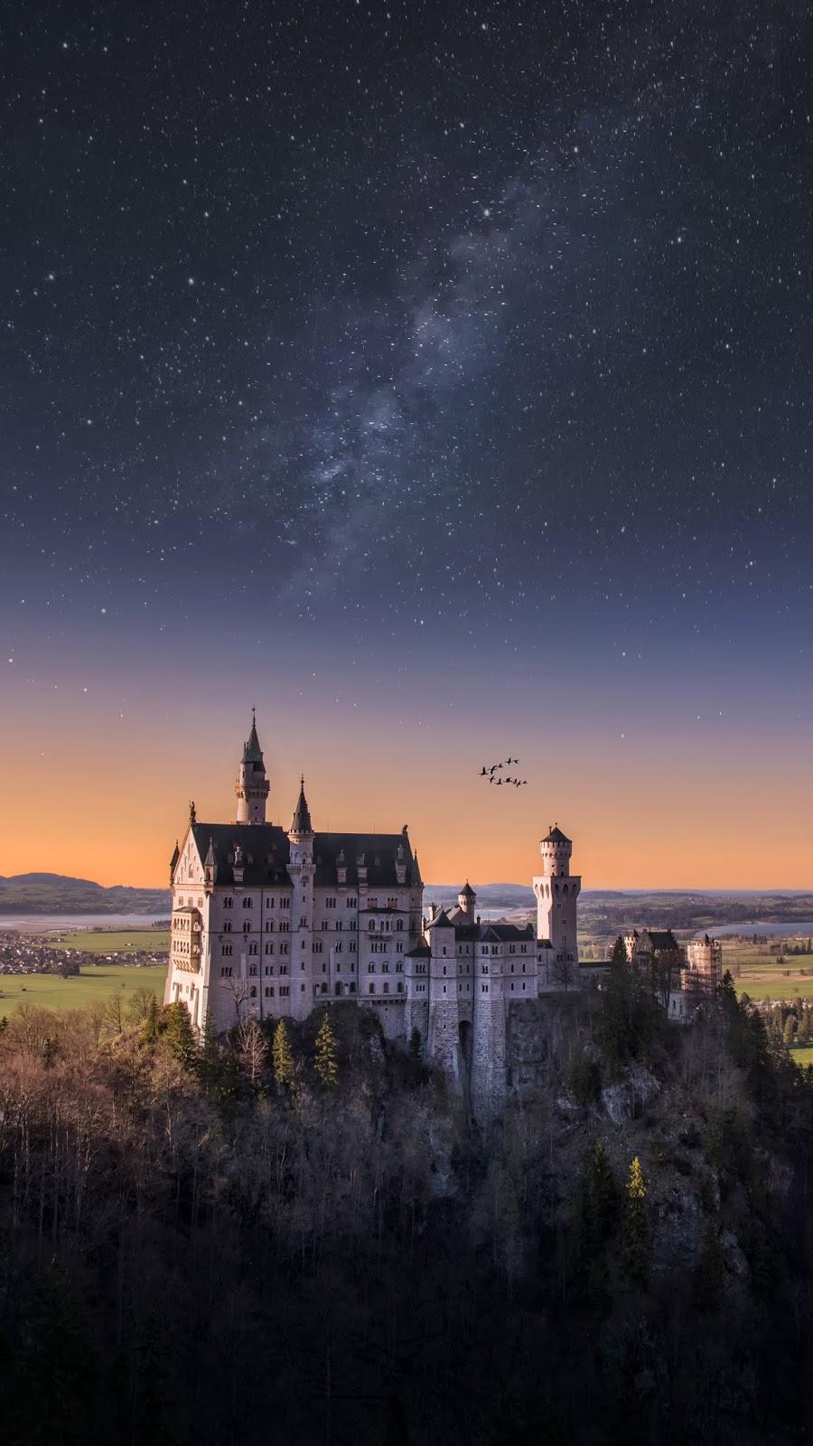 Castle in the starry night by Massimiliano Morosinotto