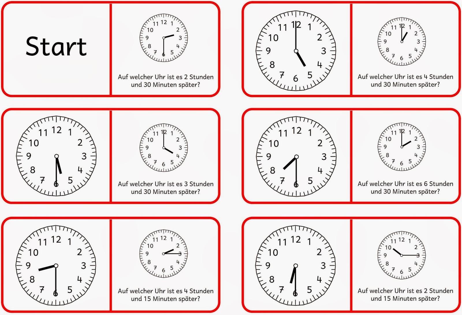 Lernstubchen Uhrendomino 1