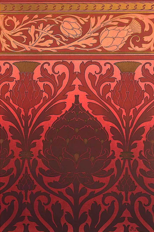 1886 red ornament German