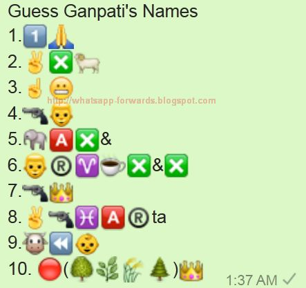 Guess Ganpati's Names