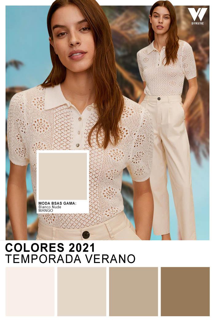 Colores 2021 Moda primavera verano 2021 Blanco Nude